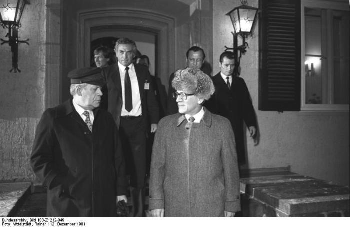 Döllnsee, Erich Honecker und Helmut Schmidt