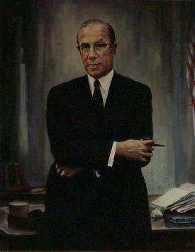 Porträt von George Shultz im Arbeitsministerium